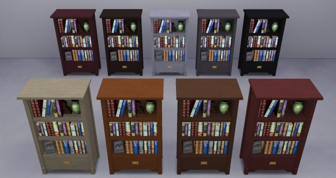 Sims 4 Bookshelves from TS3 by TheJim07 at Mod The Sims