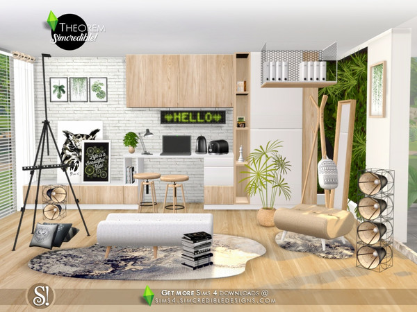 Sims 4 Theorem Study room by SIMcredible at TSR