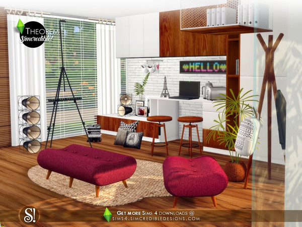Theorem Study room by SIMcredible at TSR image 686 Sims 4 Updates
