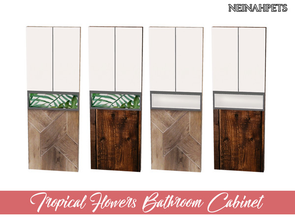 Tropical Flowers Bathroom by neinahpets at TSR image 690 Sims 4 Updates