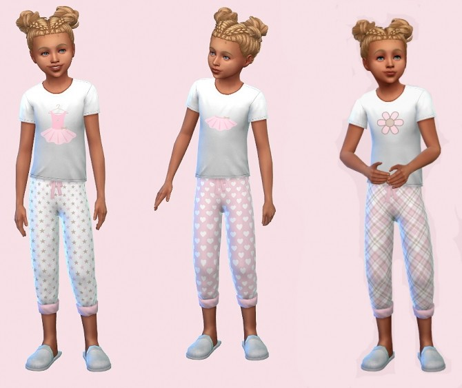 Sims 4 Mix & Match Girls Pyjamas in Pink Tutu by Foxybaby at Mod The Sims