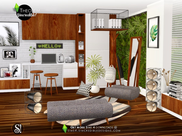 Theorem Study room by SIMcredible at TSR image 695 Sims 4 Updates