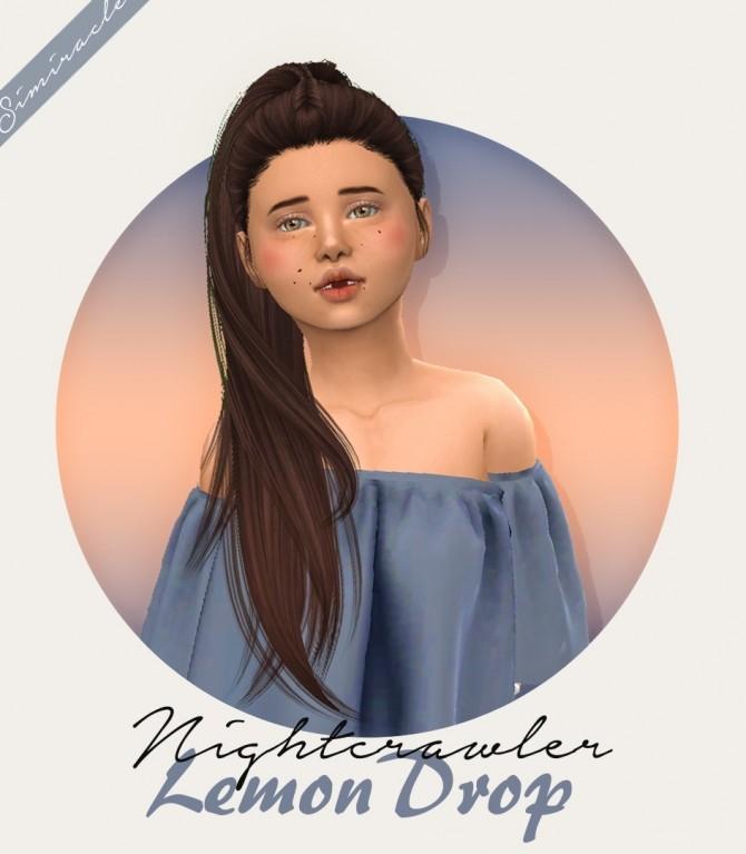 Sims 4 Nightcrawler Lemon Drop Hair Kids Version at Simiracle