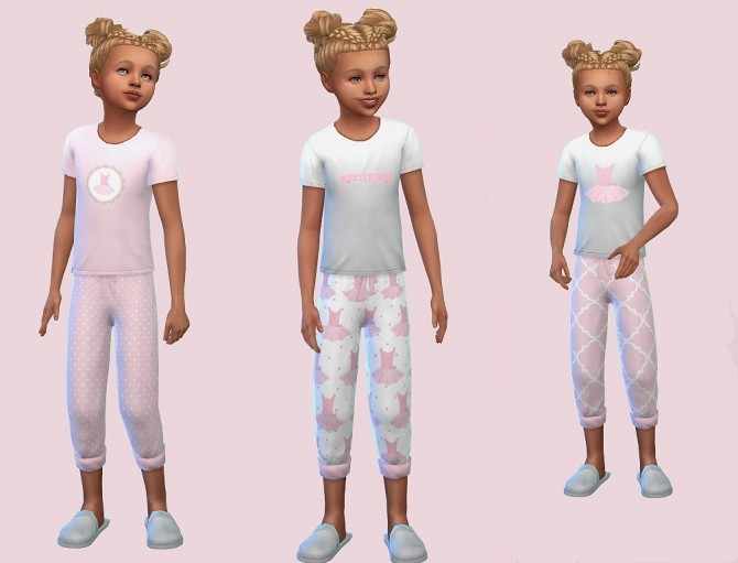 Mix & Match Girls Pyjamas in Pink Tutu by Foxybaby at Mod The Sims image 705 670x511 Sims 4 Updates