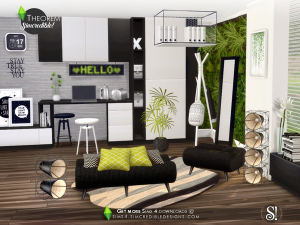 Theorem Study room by SIMcredible at TSR image 706 Sims 4 Updates