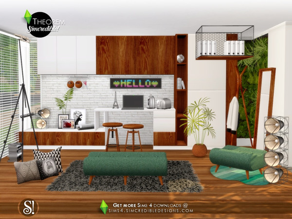 Theorem Study room by SIMcredible at TSR image 7110 Sims 4 Updates
