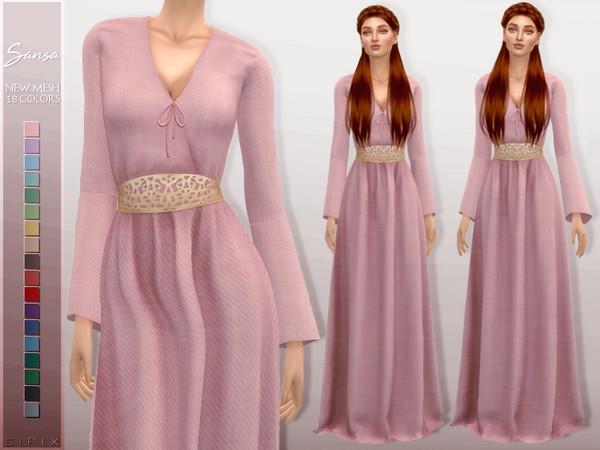 Sansa Dress by Sifix at TSR image 712 Sims 4 Updates