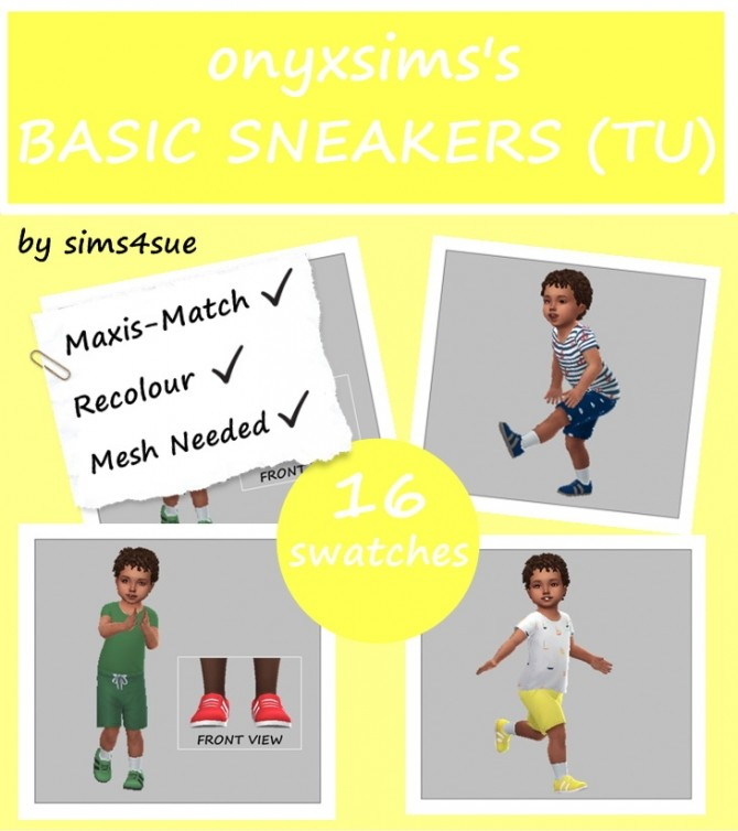 ONYXSIMS' BASIC SNEAKERS RECOLOUR TU at Sims4Sue image 7120 670x754 Sims 4 Updates