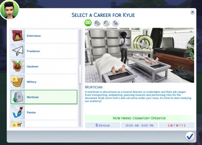 Sims 4 Mortician Career With Custom Chance Cards by MarieLynette at Mod The Sims