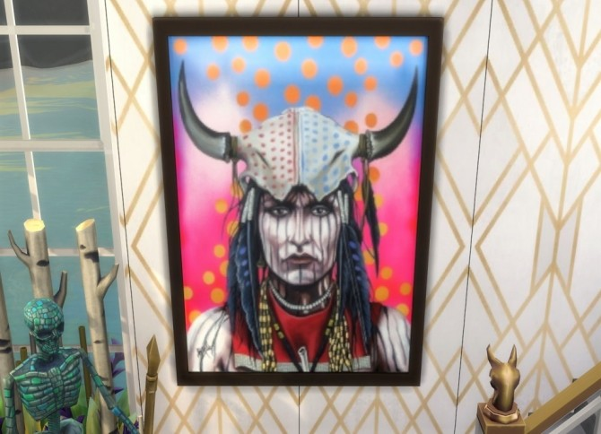 Native Heart paintings at Paradoxx Sims image 719 670x484 Sims 4 Updates