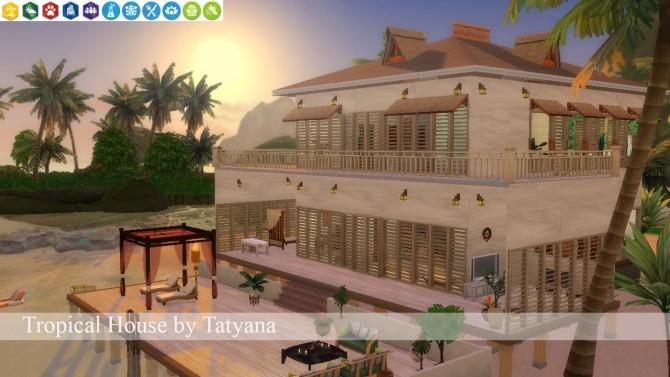 Sims 4 Tropical House no CC at Tatyana Name