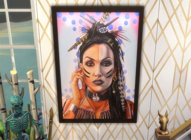 Sims 4 Native Heart paintings at Paradoxx Sims