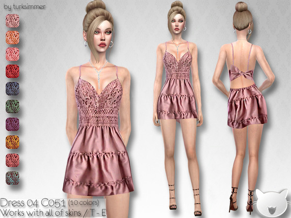 Sims 4 Dress 04 C051 by turksimmer at TSR