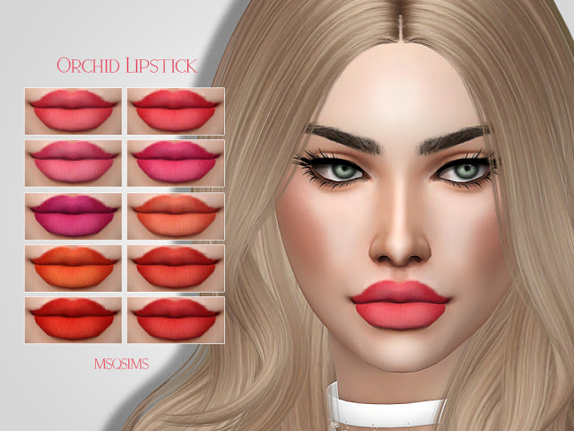 Sims 4 Orchid Lipstick at MSQ Sims