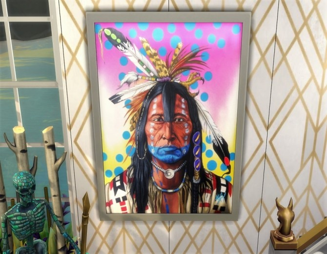Native Heart paintings at Paradoxx Sims image 735 670x521 Sims 4 Updates