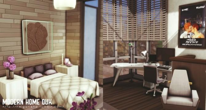 MODERN HOME OUK at Helga Tisha image 737 670x359 Sims 4 Updates