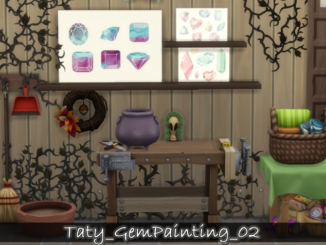 Gem paintings 02 at Taty – Eámanë Palantír image 739 670x503 Sims 4 Updates