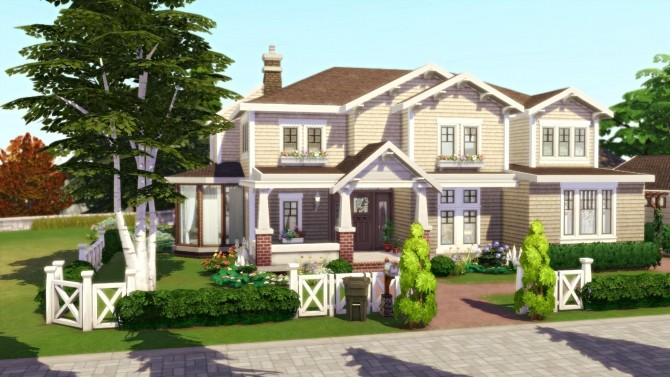Sims 4 Family life house by Tiphaine Sims at L'UniverSims