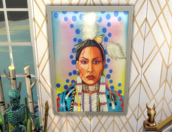 Native Heart paintings at Paradoxx Sims image 745 670x514 Sims 4 Updates