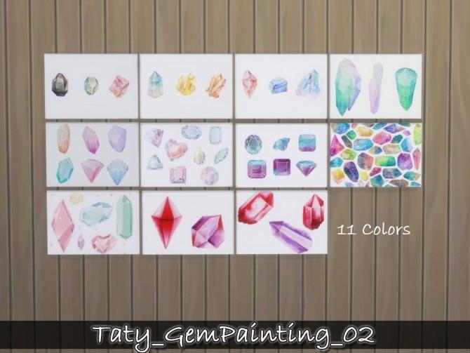Gem paintings 02 at Taty – Eámanë Palantír image 749 670x503 Sims 4 Updates