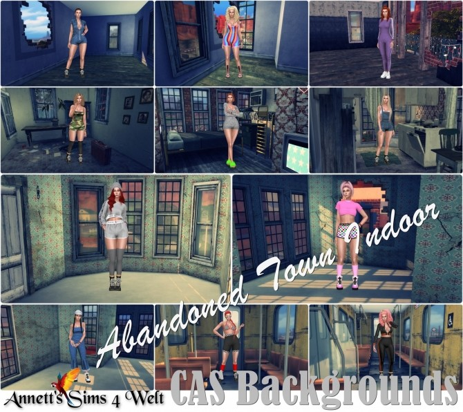 CAS Backgrounds Abandoned Town Indoor at Annett's Sims 4 Welt image 7521 670x596 Sims 4 Updates