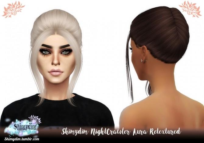 Sims 4 NightCrawler Aura Hair Retexture Naturals + Unnaturals at Shimydim Sims
