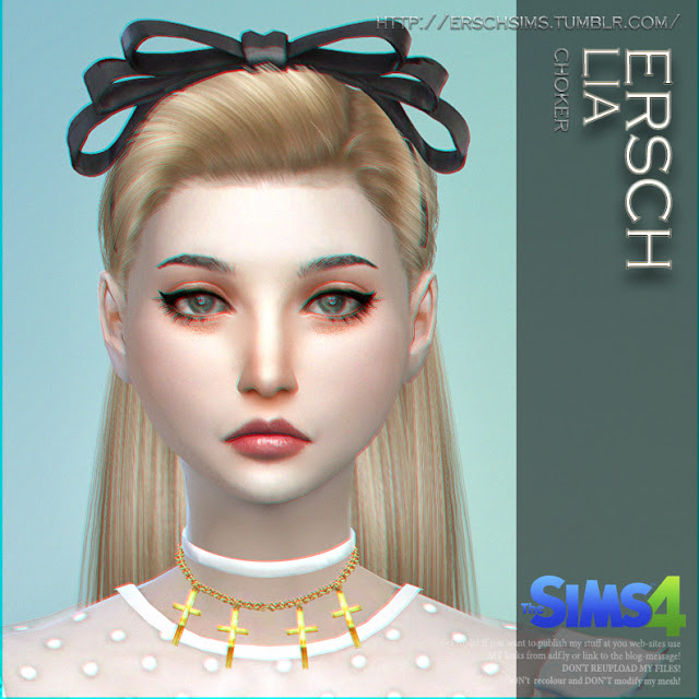 Sims 4 Lia Choker at ErSch Sims
