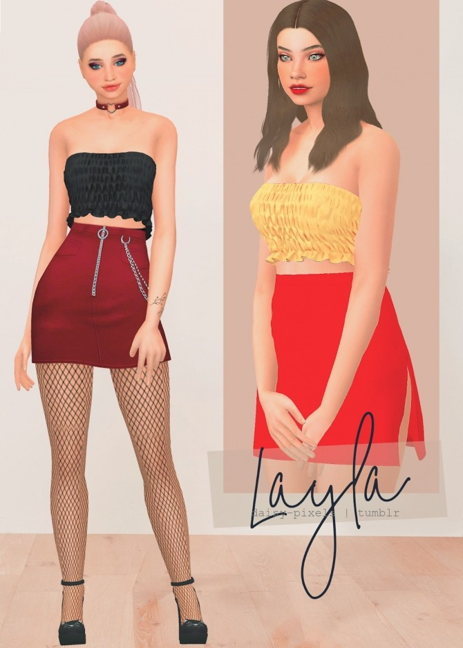 Sims 4 Layla Top at Daisy Pixels