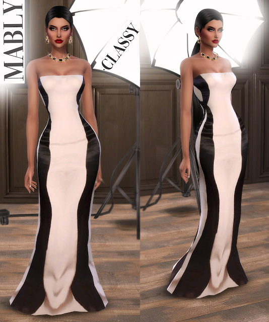CLASSY dress at Mably Store image 774 Sims 4 Updates