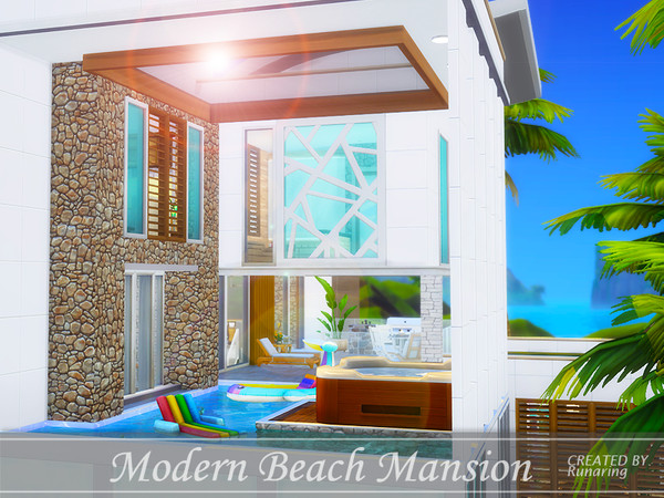 Modern Beach Mansion by Runaring at TSR image 780 Sims 4 Updates