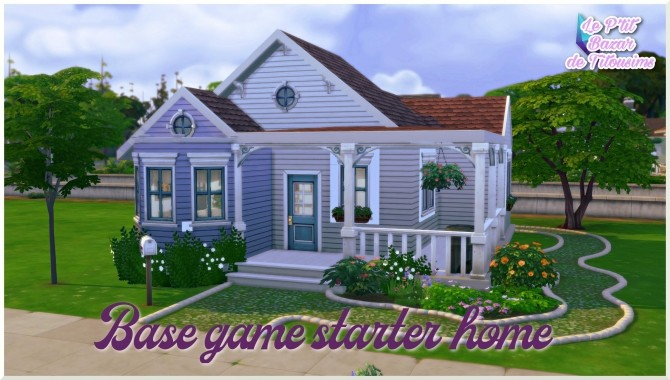 Base game starter home by Tiphaine Sims at L'UniverSims