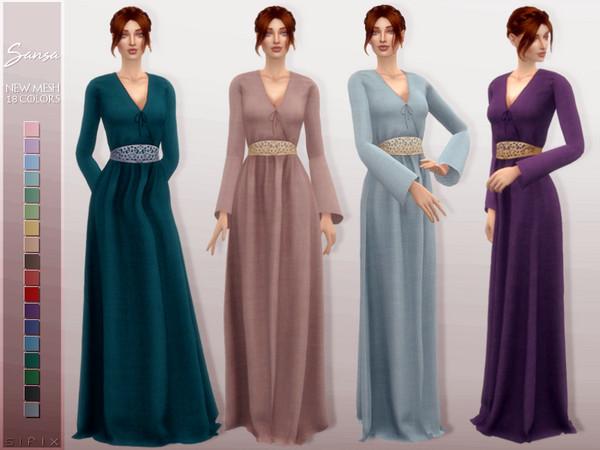 Sansa Dress by Sifix at TSR image 810 Sims 4 Updates