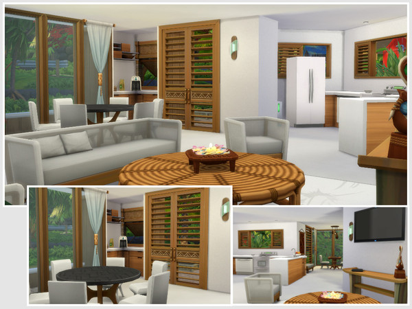 Sims 4 Curcuma house by philo at TSR