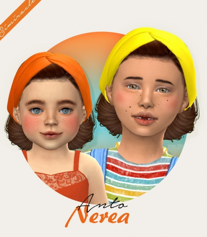 Anto Nerea hair + acc for kids and toddlers at Simiracle image 8116 670x767 Sims 4 Updates