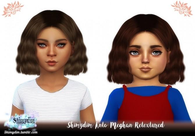Sims 4 Anto Meghan Hair Retexture + Child & Toddler Naturals + Unnaturals at Shimydim Sims