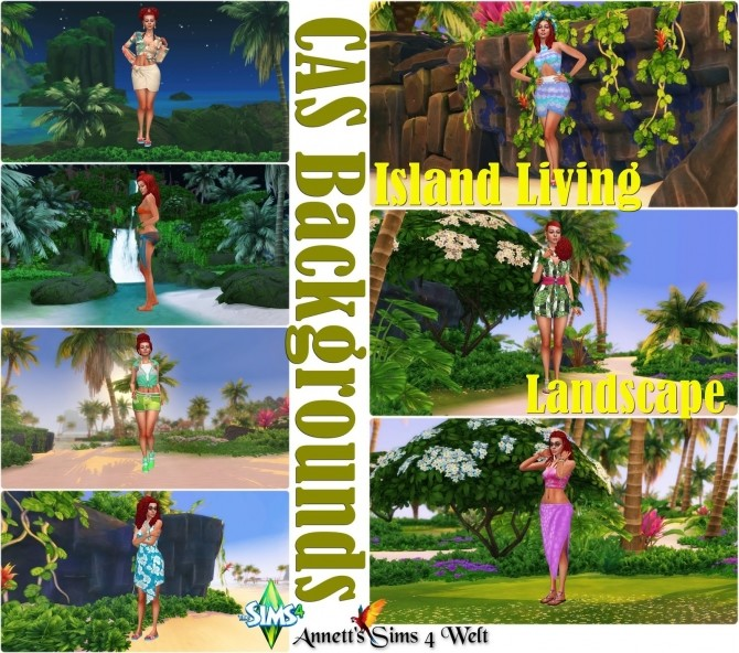 Island Living Landscape CAS Backgrounds at Annett's Sims 4 Welt image 847 670x592 Sims 4 Updates