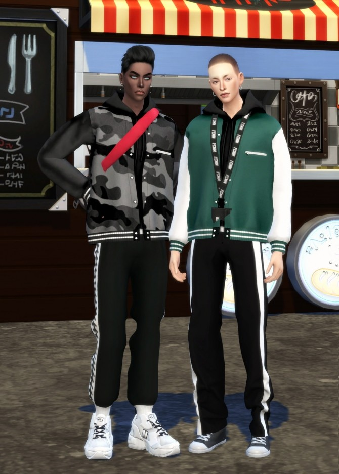 Male bomber jacket & hood at Chaessi image 861 670x937 Sims 4 Updates