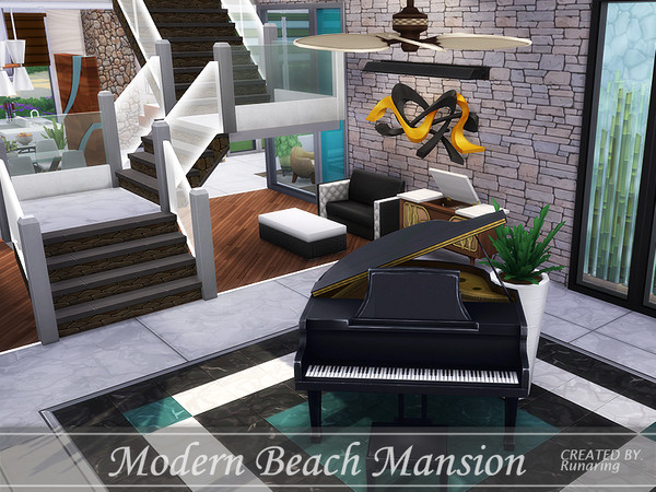 Modern Beach Mansion by Runaring at TSR image 870 Sims 4 Updates