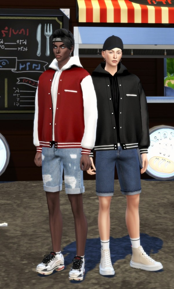 Male bomber jacket & hood at Chaessi image 871 601x1000 Sims 4 Updates
