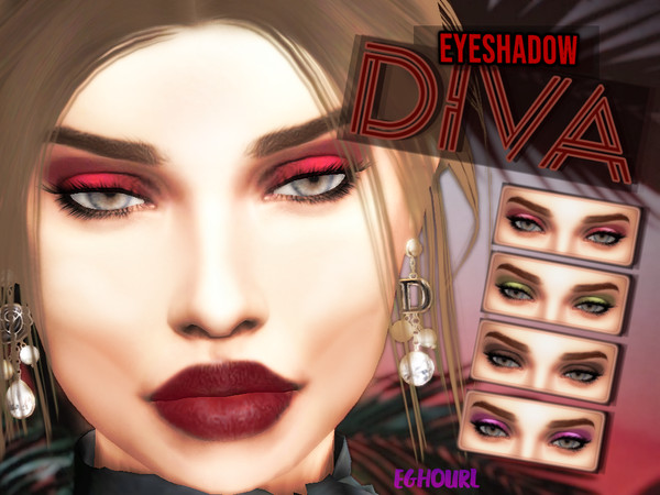 DIVA Eyeshadow by eGhourl at TSR image 8910 Sims 4 Updates