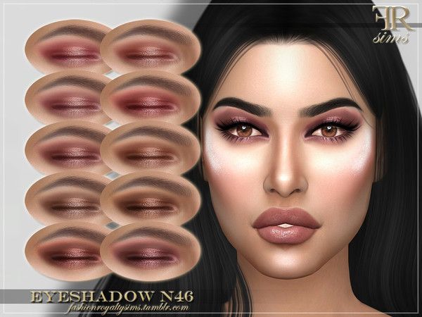 Sims 4 FRS Eyeshadow N46 by FashionRoyaltySims at TSR