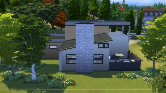 Sims 4 Fab Flat Top house by Vulpus at Mod The Sims