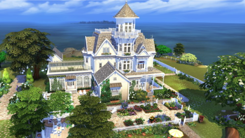 Sims 4 Practical Magic home at BERESIMS