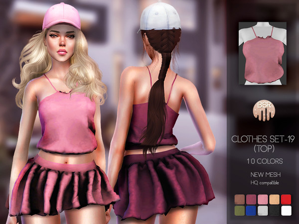 Sims 4 Clothes SET 19 (TOP) BD84 by busra tr at TSR