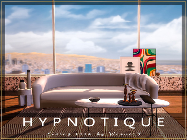 Sims 4 Hypnotique Living Room by Winner9 at TSR