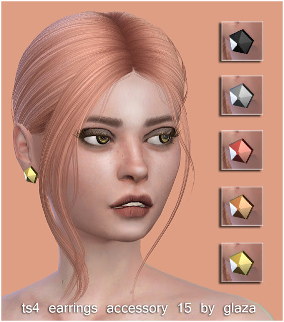 Sims 4 Earrings 15 at All by Glaza