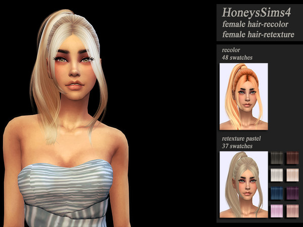 Sims 4 HoneysSims4 Retexture hair Wings ON0214 by Jenn Honeydew Hum at TSR