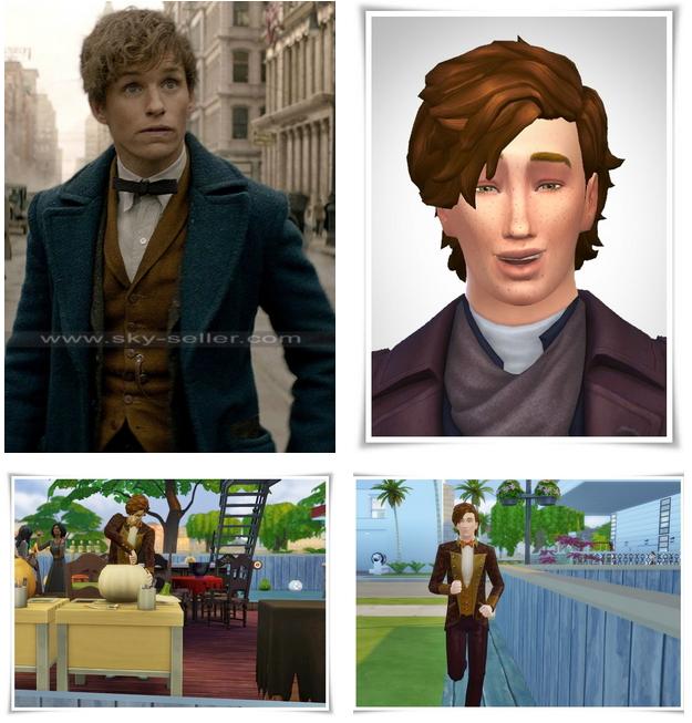 Eddie Redmayne as Newt Scamander at Birksche's SimModels image 9713 Sims 4 Updates
