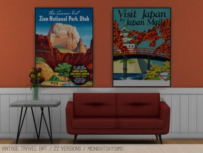 Sims 4 Vintage travel art at Midnightskysims