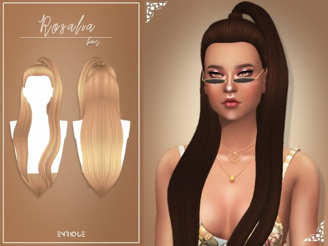 Sims 4 Rosalia Hairstyle at Enriques4
